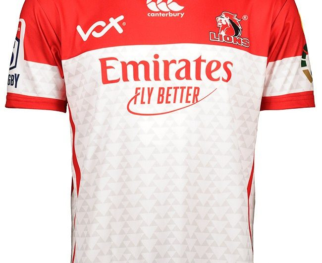 Camiseta Emirates Lions Super Rugby 2019 Canterbury para el hogar