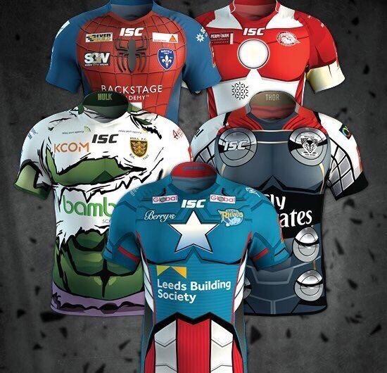 ISC lanza las camisetas de Super League Marvel Heroes UK