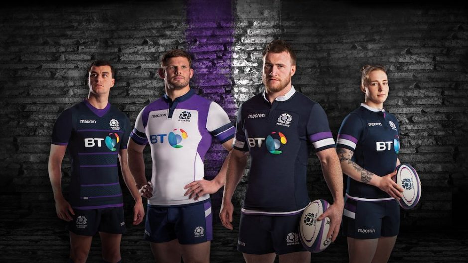 Rugby de Escocia revela los kits 2017/18 15s y 7s de Macron