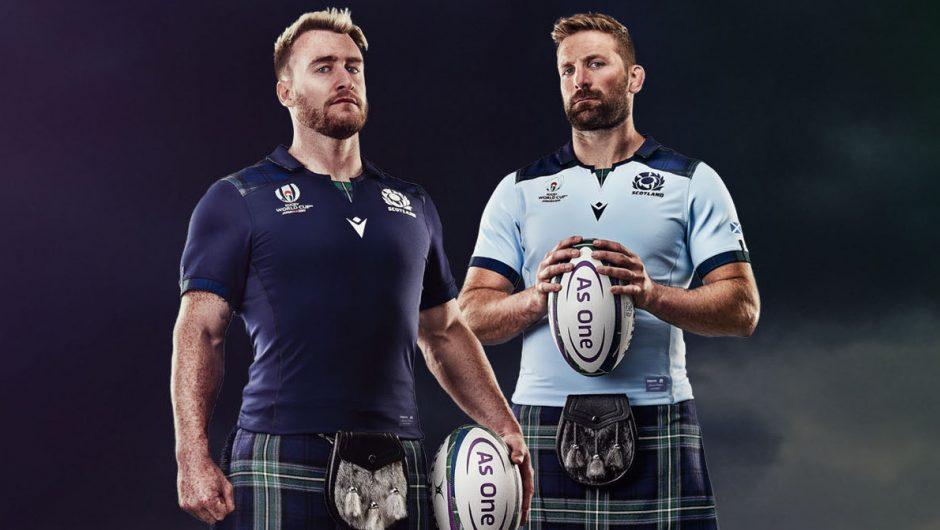 Escocia revela las camisetas de la Copa Mundial de Rugby 2019