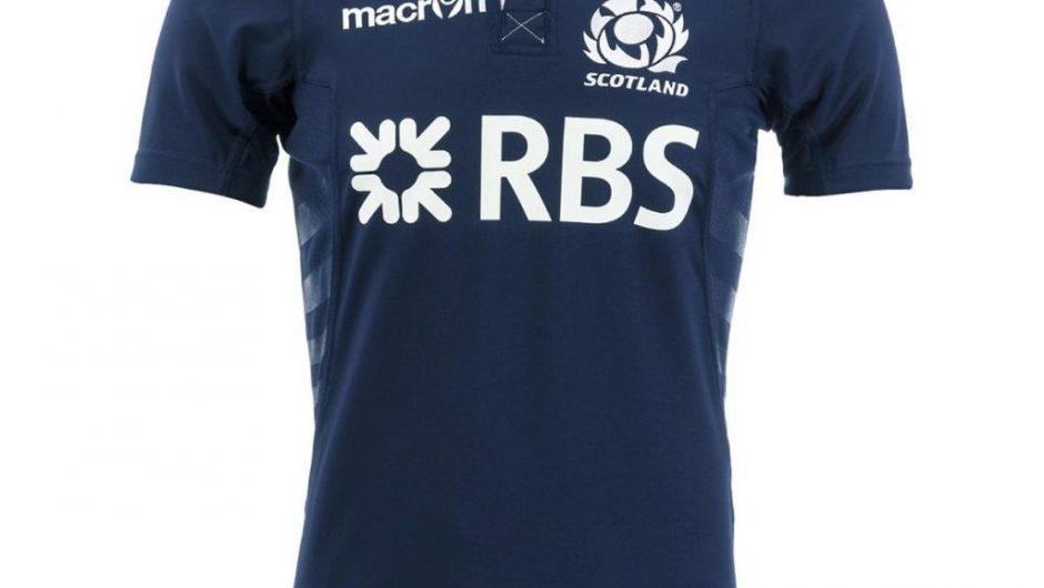 Camiseta de Escocia Rugby Macron 2013/14 primera